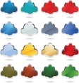 clouds metal glass resize vector image