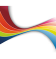 rainbow refreshing abstract wave vector image vector image
