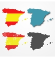 Spain silhouette set vector image vector image