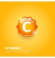 Vitamin C label vector image