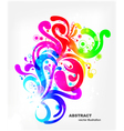 colorful swirls background vector image