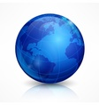 Globe blue sphere earth on white vector image vector image