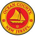 Ocean county seal vector image vector image
