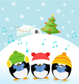 Caroler Penguins vector image vector image