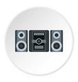 music center icon circle vector image