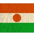 Niger paper flag vector image