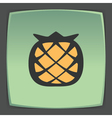 outline pineapple fruit icon Modern infographic vector image