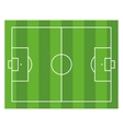 Soccer Field Top View Football Green Stadium vector image