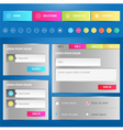 Web elements Site navigation menu vector image
