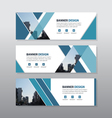 Blue abstract triangle corporate business banner vector image