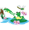 Cartoon frog design vector image vector image