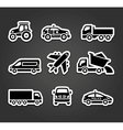 Set of sticky stickers transport icons vector image