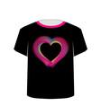 Printable tshirt graphic- Valentine Hearts vector image