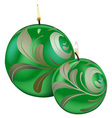 Green Christmas Candles vector image vector image