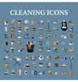 Set of icons of black on a white background vector image