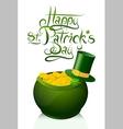 Saint Patricks Day greeting card design vector image vector image