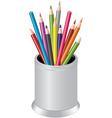 pencils in a pen cup vector image