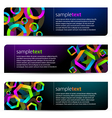 geometric banners vector image
