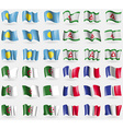 Palau Ingushetia Algeria France Set of 36 flags of vector image