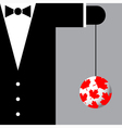 suit with the symbols of Canada vector image