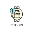 bitcoin technology modern icon vector image