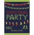 Christmas party invitation poster vector image