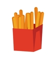 French Fries Isolated on White Crispy Potatoes vector image