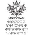 heraldic template monogram with the bilateral vector image