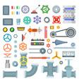 machinery parts set vector image