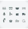 Modern shopping icon vector image