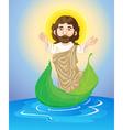 jesus floating vector image vector image