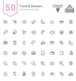 Food and Dessert Line Icon Set vector image