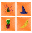 assembly flat shading style icon spider witch hat vector image