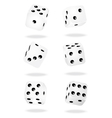 White dices vector image