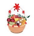 Health and Nutrition Fruit in Gift Basket vector image