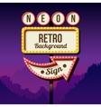 Vintage advertising road billboard with lights vector image
