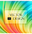Multicolored striped curved background vector image vector image