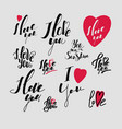 calligraphic font hand drawing individual font vector image