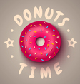 donut time vector image