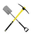 Pickaxe and shovel vector image