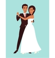Wedding dance Marriage invitation Flat design vector image