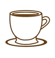 white coffee cup graphic vector image