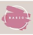 Typography Background Brush Stroke vector image