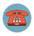deskphone flat line icon vector image