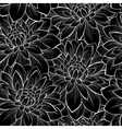 background with monochrome black and white flower vector image vector image