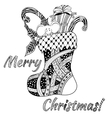 Doodle style - christmas background vector image