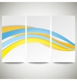 Abstract flyers set wave design vector image