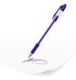 violet ballpoint pen vector image