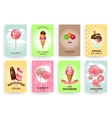 Sweets lollipops and ice creams Brochures vector image