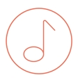Music note line icon vector image